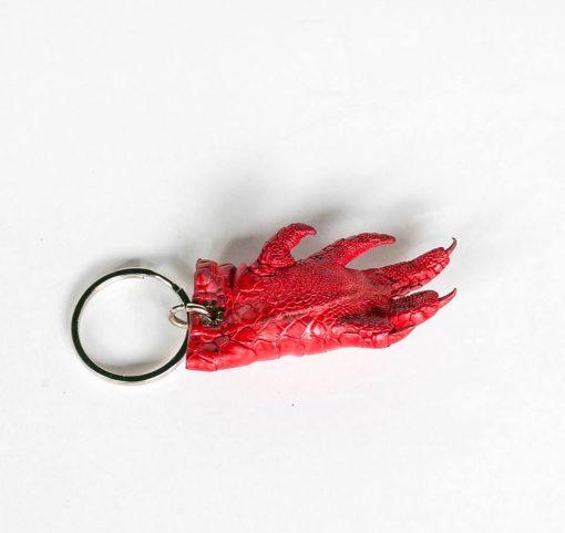 Móc khóa chân cá sấu màu đỏ