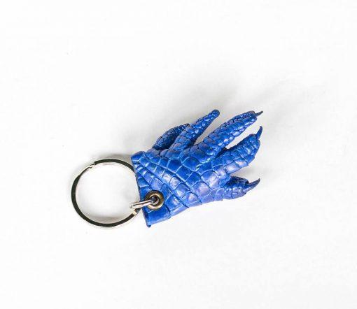 Móc khóa chân cá sấu màu xanh dương
