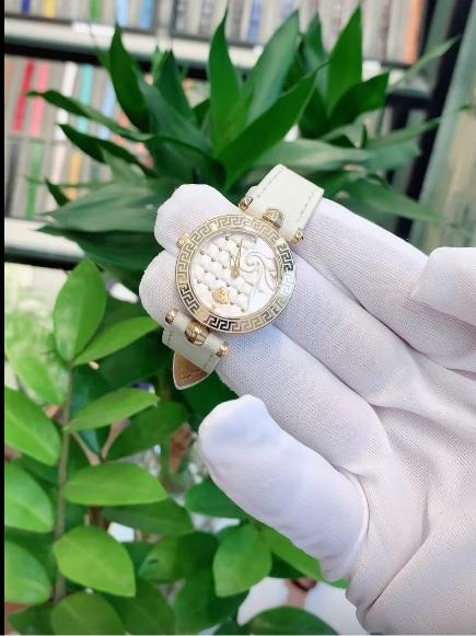 Dây da đồng hồ Versace
