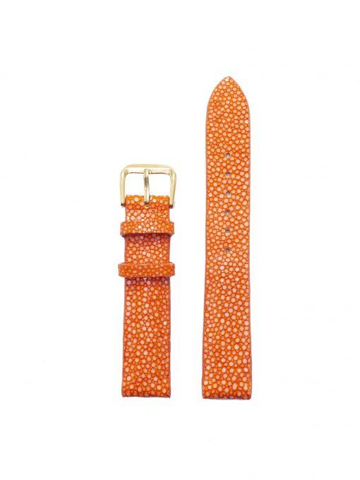 dây đồng hồ da cá đuối cam 1