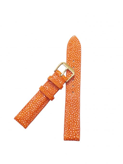 dây đồng hồ da cá đuối cam