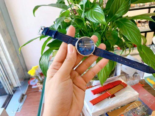 dây đồng hồ swarovski da cá sấu