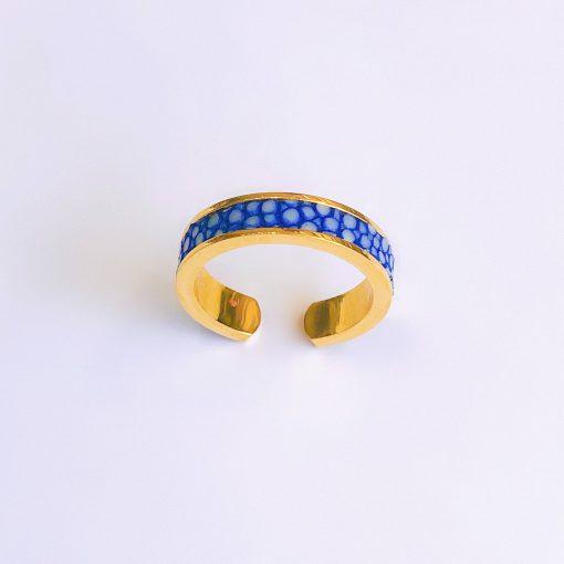nhẫn phong thủy xanh navy